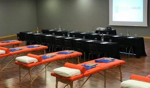 Aula del Seminario de quiromasaje ALDIR3D en Barcelona